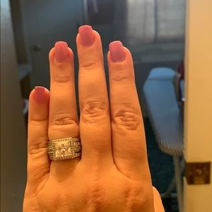 Jewelry - Sterling silver wedding set.